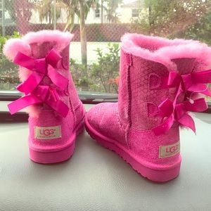 Pink Bow Ugg Boots